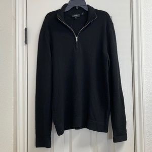 Theory cashmere half zip popover sweater top